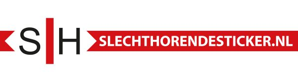 Slechthorende sticker